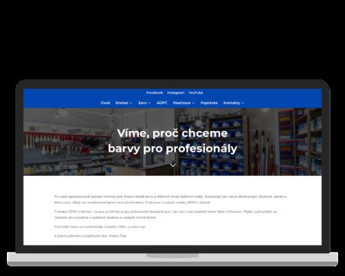 Bruno Dirbák - Tvorba webu pro Barvy pro profesionály