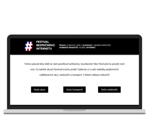 Bruno Dirbák - Tvorba webu pro Festival bezpečného internetu