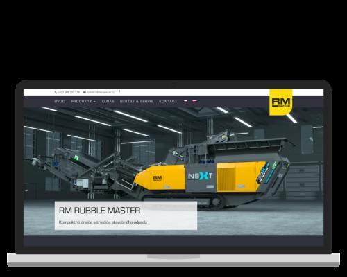 Bruno Dirbák - Tvorba webu pro Rubble Master CZ/SK